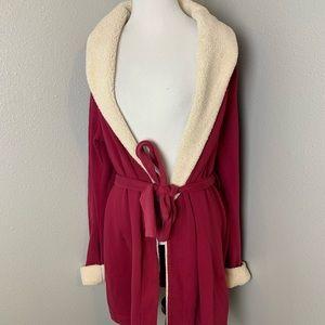 M Victoria secret wine color plush robe
